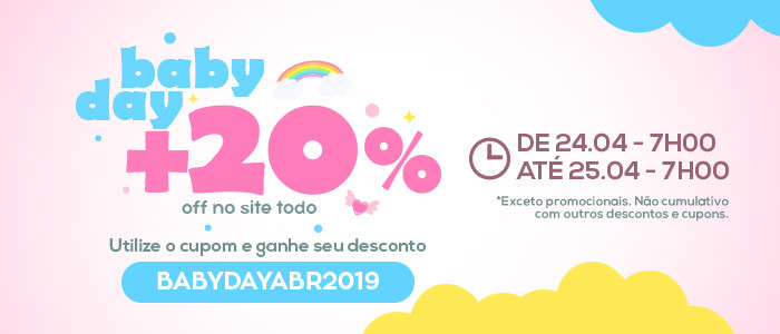 Baby Day Abr19 20off todo o site - Lista