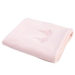 c98430696f Cobertor Soft para Bebê Rosa Alice Bege