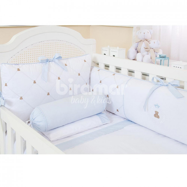 b75c14f35 Kit Enxoval de Berço Theodore Azul 9 Peças - Baby Enxoval