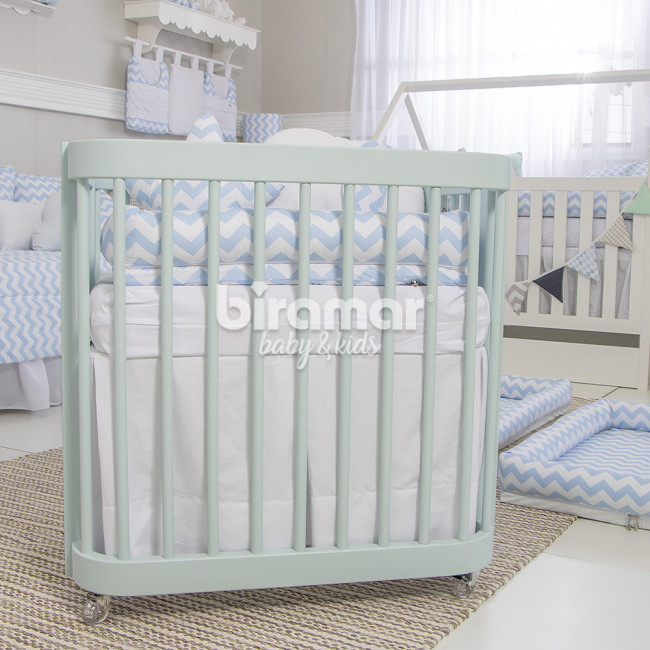 Saia para Mini Berço Branco - Baby Enxoval  1ba65e7cebc