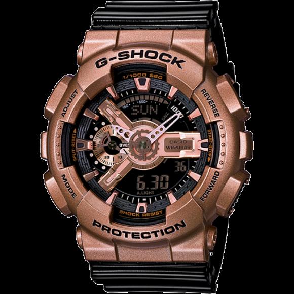 2570ec98143 Relógio Casio G-Shock GA-110GD-9B2-Resistência à água até 200 metros ...