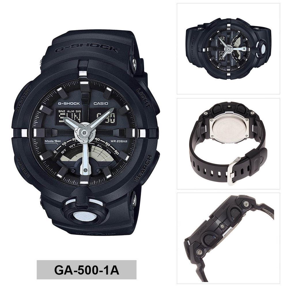 ea1d9058a7f Relógio Casio G-Shock GA-500-1A-Resistência à água até 200 metros - Bessalle