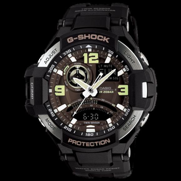f8c1c91754e Relógio Casio G-Shock GravityMaster GA-1000-1B - Preto - Bessalle