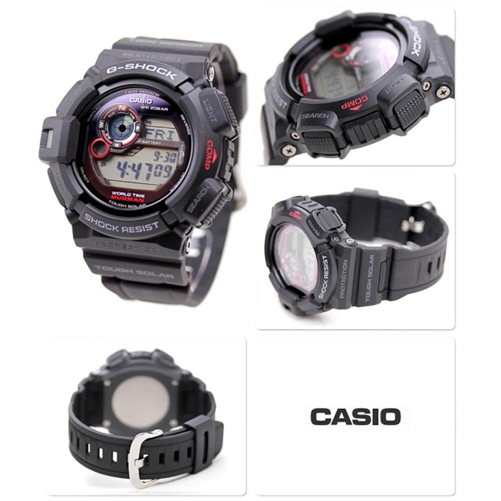 ef42a879872 Relógio Casio G-Shock MudMan G-9300-1-Resistência à água até 200m - Bessalle