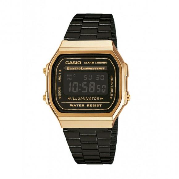 69c293988b2 Relógio Casio Vintage A-168WEGB-1B-Resistência à água até 30m - Bessalle