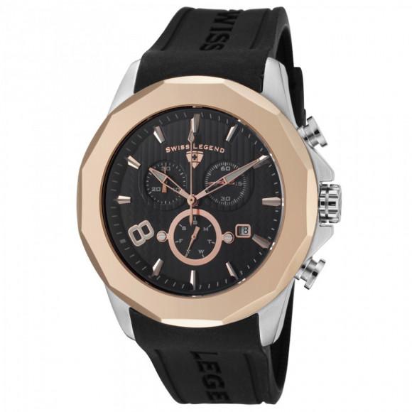 570cbf51880 Relógio Swiss Legend 10042 01 RB-Resistência à água até 100 metros ...