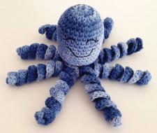 Polvinho Amigurumi 100% Algodão - Azul Mesclado