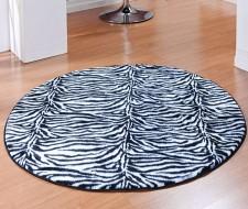 Tapete Linha Safari Redondo - Zebra