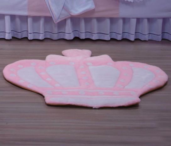 Tapete Rosa Para Quarto Infantil : Tapete para Quarto Infantil – Realeza Rosa – Borda Bordados Enxovais