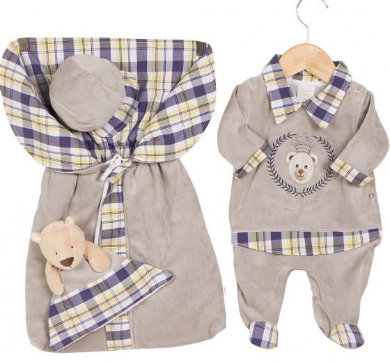 74215af44 Saida Maternidade Nícolas Cinza 04 peças