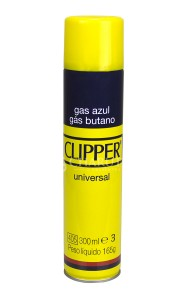 Gás Butano Clipper 300ml (5 adaptadores)