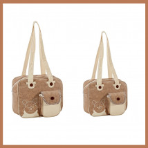 84d51667e Kit Bolsa Maternidade Marrom Ursinho Pooh G e P