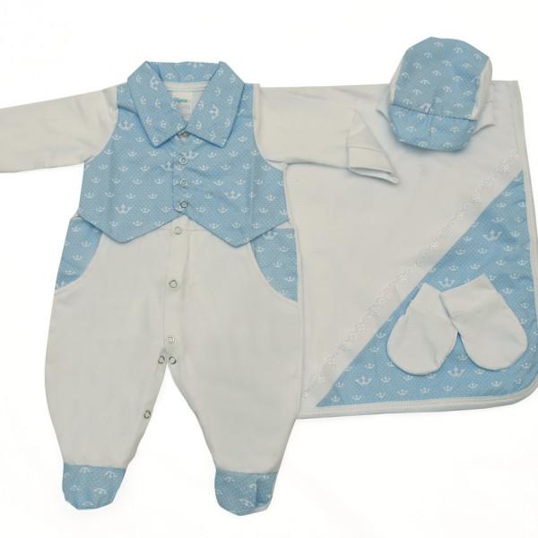 Saída Maternidade Bebe Doce Mel Bebê Tieloy - Doce Mel Bebê da3a1aed451