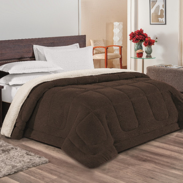 512645ae9d Coberdrom Sherpa King Everest Dupla Face - Tabaco - ecasa home