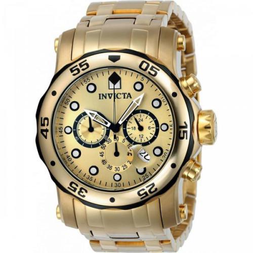 47a171b6b9d Relógio Invicta Pro Diver 23670 CX - Troca Pulseira em 2 em 1 - Ouro ...