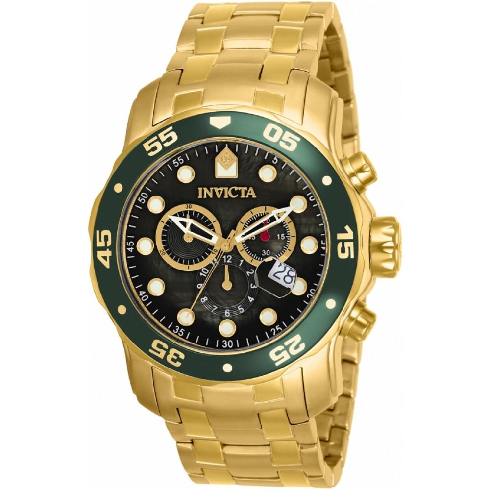 7cae5bd9067 Relógio Invicta Pro Diver 80074 - Ouro 18K