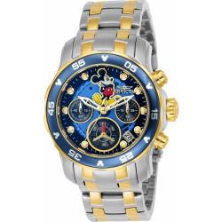 9200fb5a73f Relógio Invicta Pro Diver Disney Edition 23769 - Pulseira Prata e Ouro 18K