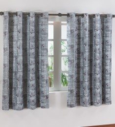 Cortina Blackout  Estampada 2,80m X 1,60m EDDI - CINZA
