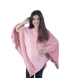 Poncho Everest Kids Rosa Antigo