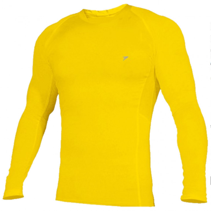 camisa térmica poker skin basic manga longa amarela - Mania de Futsal a69359efd769b