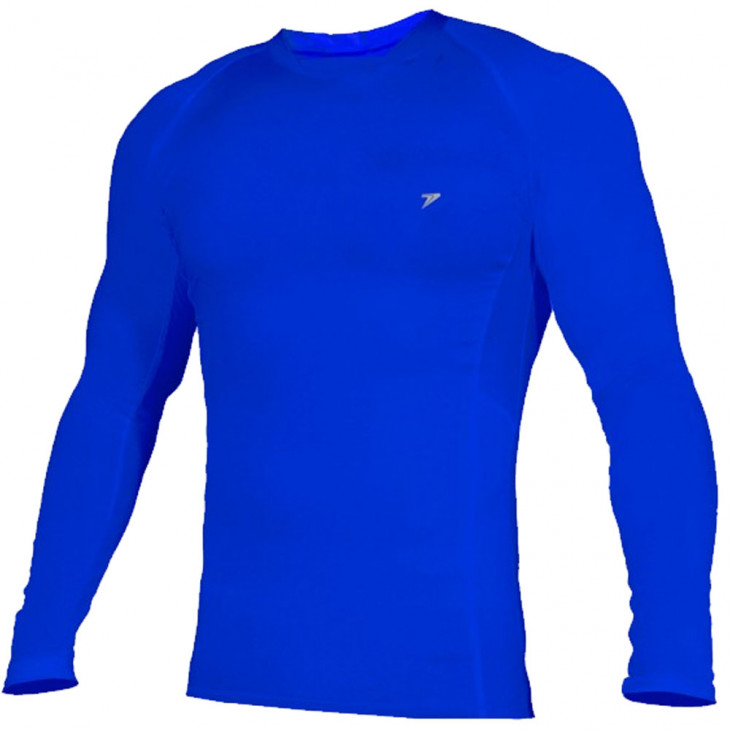 camisa térmica poker skin basic manga longa azul - Mania de Futsal 7bb5ccdafff07