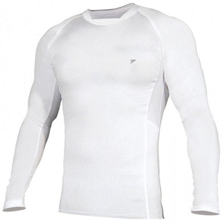 camisa térmica poker skin basic manga longa branca - Mania de Futsal 2755a33445f99