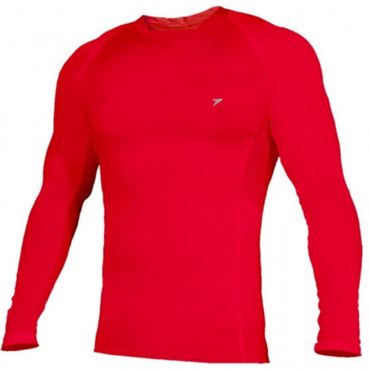 883394016 camisa térmica poker skin basic manga longa vermelhaa - Mania de Futsal