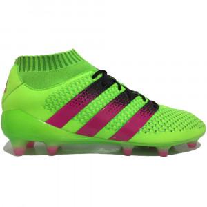 Chuteira Adidas Ace 16.1 Primeknit FG Verde b9a22cc26a361