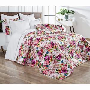 0207ad0780 Dolce Vitta Duvet (Capa de Edredom) Queen - Floral Colorido ...