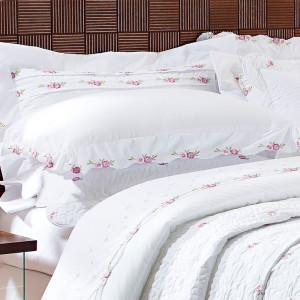 4a00b1b618 Eglantine Fronha Avulsa Decorativa - 90cm x 50cm + Abas - Percal 400 Fios -  Fio ...