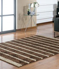 Tapete Classic Design 1,50m x 2,00m com Base Antiderrapante Marrom