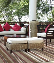 Tapete Sisal Bali 1,50 x 2,00m Base Confortex (não risca o piso) Vermelho